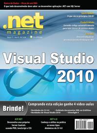 Meu artigo de Visual Studio 2010 é capa da .net Magazine 71! Legal!!!